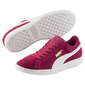 Puma Vikky Soft Foam Red Plum White Sneakers